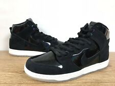 NIKE SB ZOOM DUNK HIGH PRO 854851-001 IRIDESCENT BLACK WHITE CLEAR DS Sz 13