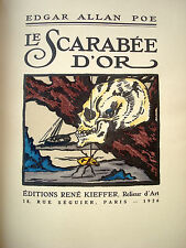 Le Scarabé d'Or par Edgar Allan POE illustré MARQUE 1926 N° 353 KIEFFER