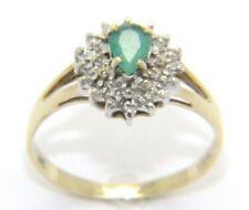 Anillos de joyería con diamantes compromiso esmeralda