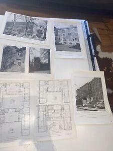 1908 American Architect Mather Grammar School Dorchester Mass X 6 Plates