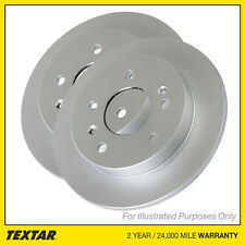 Genuine OE Textar Coated Rear Solid Brake Discs Pair Set - 92268403