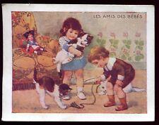 """image Phosphatine Falières """" les amis des Bébés """" chat """" poupée alsacienne"""""""