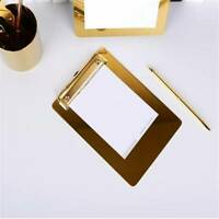 Metal A4 Clipboard Clip Board Writing Office Document Holder Pad Hard Filing