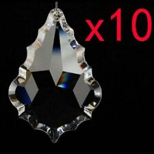 10pcs Clear Maple leaf Chandelier Glass Crystal Lamp Prisms Hanging Drop Pendant