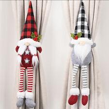 Christmas Curtain Buckle Clips Santa Claus Faceless Doll Tiebacks Ornament