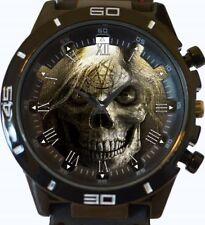 Gothic Satanic Skull Pentagram New Gt Series Sports Wrist Watch FAST UK SELLER