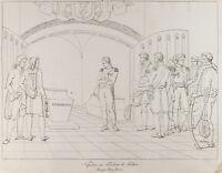 Grabado Antigua 1876: Napoleón Al Sepulcro de Frederic II de Prusia