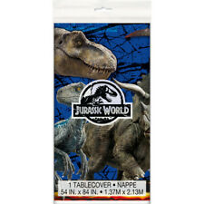 JURASSIC WORLD Fallen Kingdom PLASTIC TABLE COVER ~ Birthday Party Supplies Blue