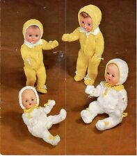 Vintage Baby Dolls Clothes Knitting Pattern Copy Various Outfits 4 ply