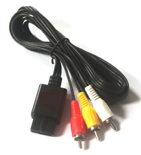 ☆ CABLE VIDEO PERITEL RCA  NINTENDO 64 / SUPER NINTENDO / GAMECUBE  PAL NEUF ☆