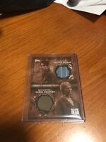 Walking Dead 6 Topps 2017 DUAL COSTUME RELIC CARD Carol and Maggie 3/10 Sepia