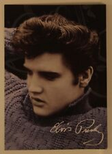 Young Elvis Presley in Sweater Color POSTCARD with preprinted autograph