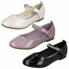 GIRLS FORMAL SPOT ON SMART CASUAL SUMMER PARTY WEDDING FLAT SHOES H2R485