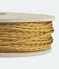 GOLD FABRIC CABLE - Twisted Lighting Cable Flex - Italian - Sold Per Metre