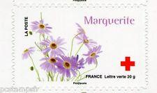 FRANCE 2014, timbre CROIX ROUGE AUTOADHESIF FLEURS, MARGUERITE, neuf**, FLOWERS