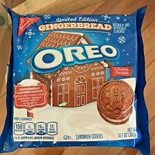 NEW Nabisco GINGERBREAD OREOS Sandwich Cookies FREE SHIPPING