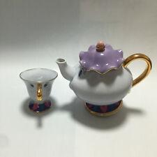 Beauty And The Beast Teapot Mrs Potts Chip Tea Pot Cup One Set Christmas New