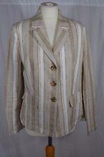 TENDENZA beige striped linen blazer jacket Size 40 (12)