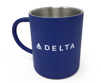 Delta Airlines Blue Stainless Steel Mug 15oz Brand New
