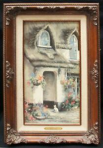 "Marty Bell ""Somerset Inn"" Signed Framed Giclée on Canvas 1989 21"" x 13"" B0371"
