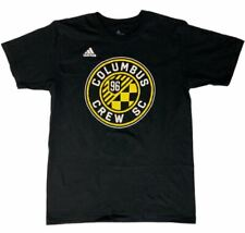 "Columbus Crew SC MLS Adidas Black ""The Go-To"" 100% Cotton Short Sleeve T-Shirt"