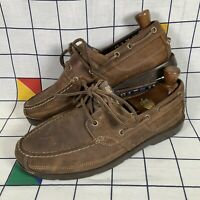 Timberland Earthkeepers Brown Leather Deck Boat Shoes Mens Size UK 9 EU 44