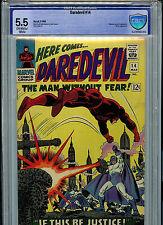 Daredevil #14 CBCS 5.5 FN- Silver Age Marvel Comics1968