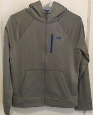 Abercrombie Boys Muscle Active Zip Jacket Size XL Gray/Blue EUC