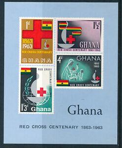 GHANA 1963 RED CROSS CENTENARY SG MS310a MNH