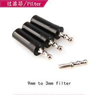 3pcs 9to3mm Tobacco smoking pipe filter Adapter metal cooling converter Reuse