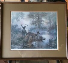 """GRANT MACDONALD """"WHITETAIL"""" HAND SIGNED LIMITED EDITION 1414/1500 FRAMED W/ COA"""