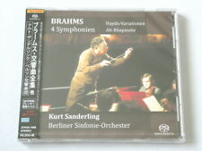 Kurt Sanderling Brahms 4 Symphonien SACD Single Layer TOWER RECORDS JAPAN