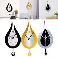 Modern Pendulum Kitchen Wall Clocks Battery Operated Decorative