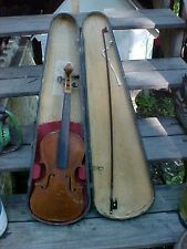 Old Violin For Repair with wood case & bow .germany,antonius