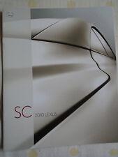 Lexus SC range brochure 2011 USA market