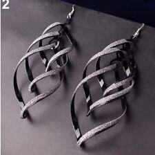 Earring Boho Festival Party Boutique Uk Black Silver Extra Long Luxury Fashion