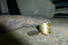 Dichroic Glass Ring - Sparkly Yellow & Golden  - Size 8.5 - New!