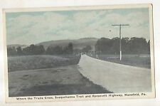 Susquehanna Trail & Roosevelt Highway MANSFIELD PA Vintage Pennsylvania Postcard