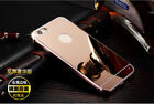 Luxury Aluminum Ultra-thin Mirror Metal Case Cover for Apple iPhone 5S 6 6S Plus