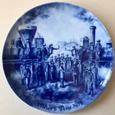 Berlin Design Father's Day Porcelain Plate 1972 Limited Edition Genuine Blue
