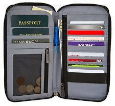 TRAVELON RFID BLOCKING EXECUTIVE ORGANIZER PASSPORT WALLET / DOCUMENT ORGANIZER