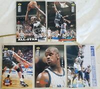 Shaquille O'Neal (5) 1994-95 COLLECTOR'S CHOICE CARDS  #184-197-205-390-400 HOF