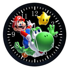 Super Mario Yoshi Black Frame Wall Clock Nice For Decor or Gifts W13