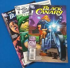 BLACK CANARY lot (3) #1 #2 #3 (2007) DC Comics FINE-