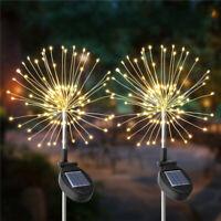 4Pcs 100/105LED Solar Power Firework Fairy String Light Yard Outdoor Garden    W