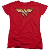 Wonder Woman GOLDEN Logo Licensed Women's T-Shirt All Sizes