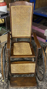 Antique wheelchair 1840's vintage! Pre Civil War! Old And In Working Condition!