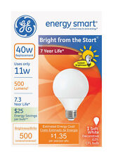 Ge 90802 Energy Smart Bright From The Start Cfl Light Bulb, 11 Watt