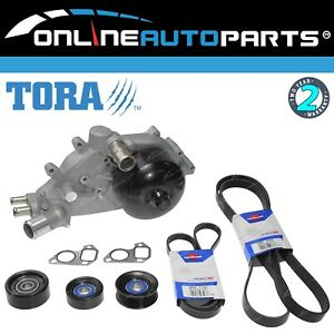 Water Pump + Pulleys + Belts Kit for Holden VT VU VX VY VZ 5.7 v8 LS1 GEN 3
