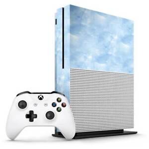 Blue Watercolour Xbox One S Skin / Xbox One S Skin Sticker Cover